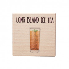 Dřevěný podtácek - Long Island Ice Tea